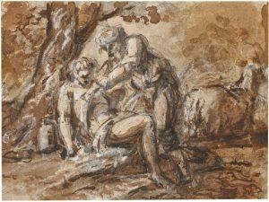 El buen samaritano. Anónimo (Genovés fines s. XVII) ©Museo Nacional del Prado