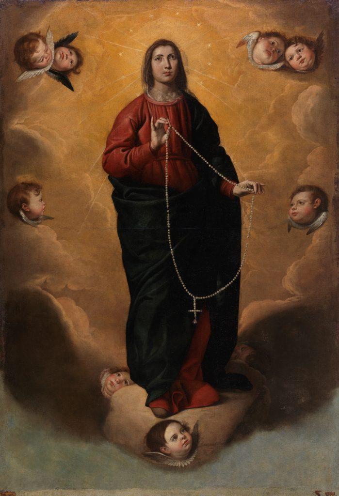 La Virgen del Rosario. Antonio Arias Fernández, 1644 ©Museo Nacional del Prado