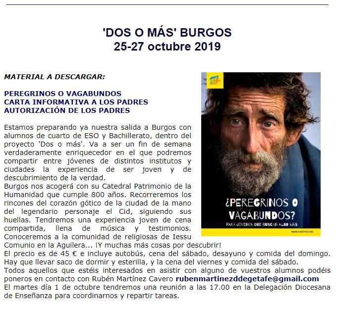 Excursión a Burgos con Dos o Más.