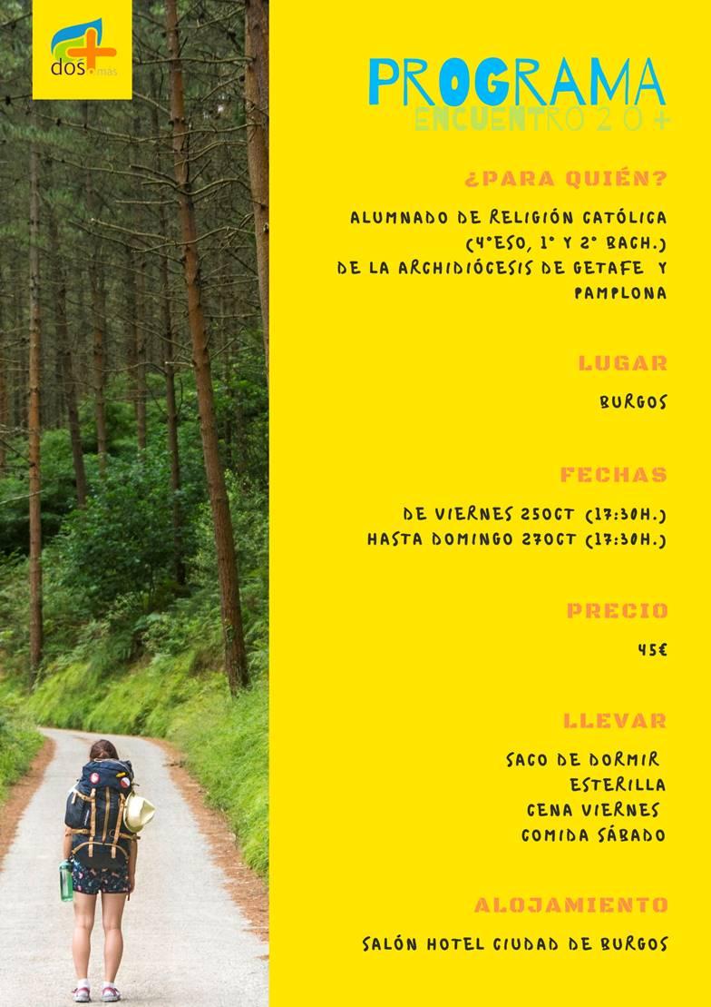 Cartel del viaje a Burgos con Dos o Más.