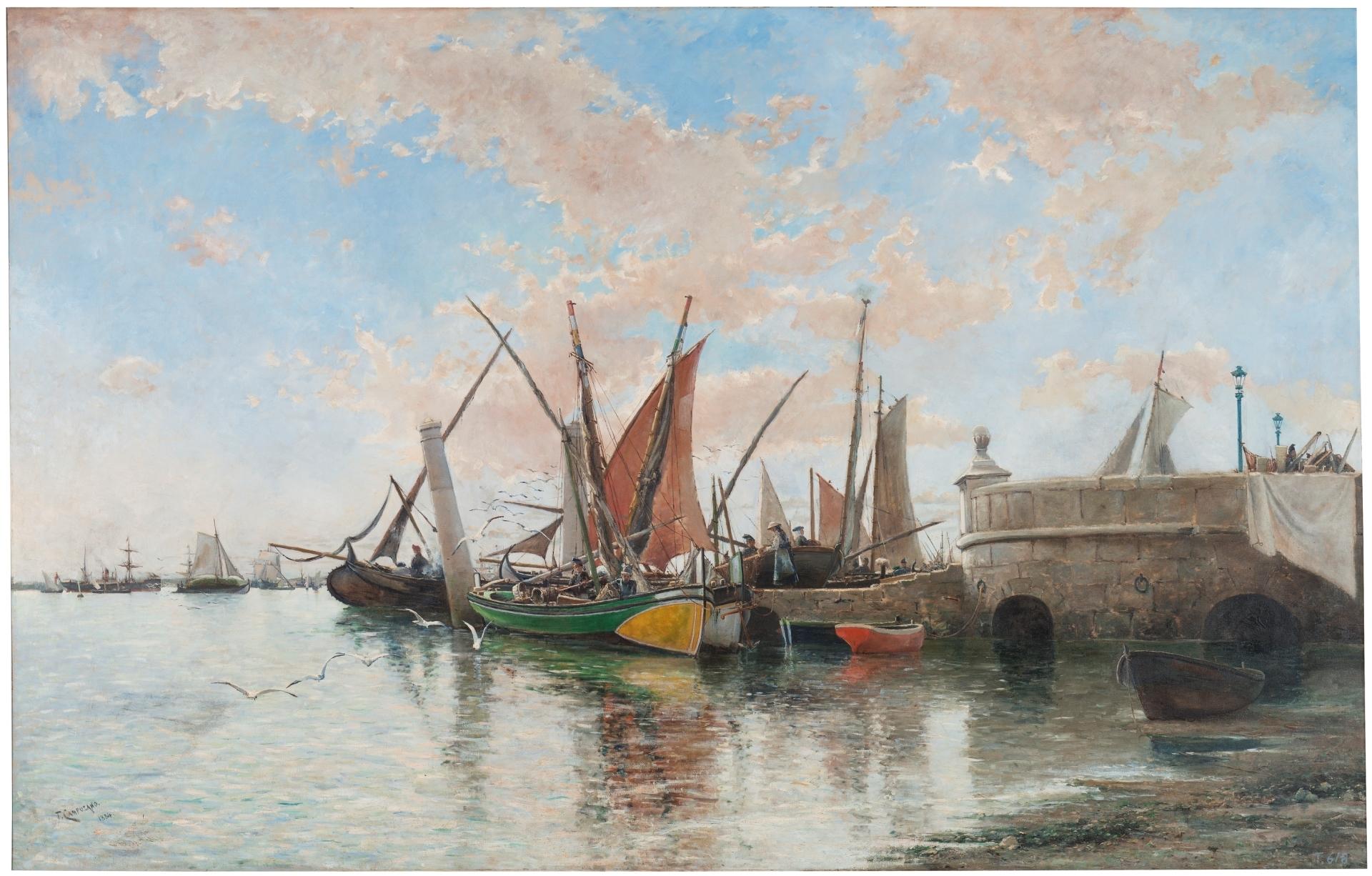 El Tajo en Lisboa, Tomás Campuzano y Aguirre, 1884 ©Museo Nacional del Prado