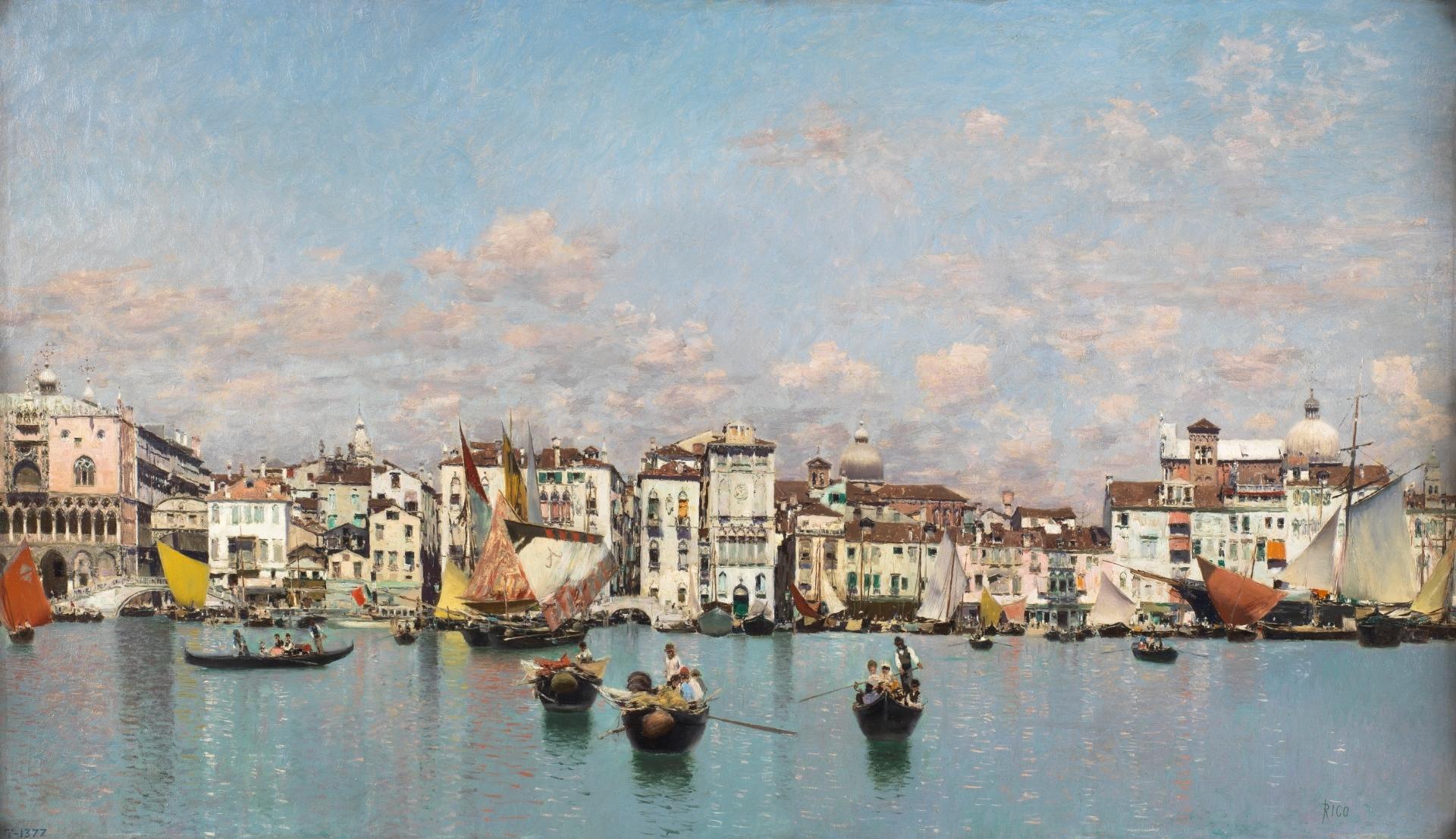 La Riva degli Schiavoni en Venecia, por Martín Rico y Ortega, 1873 ©Museo Nacional del Prado