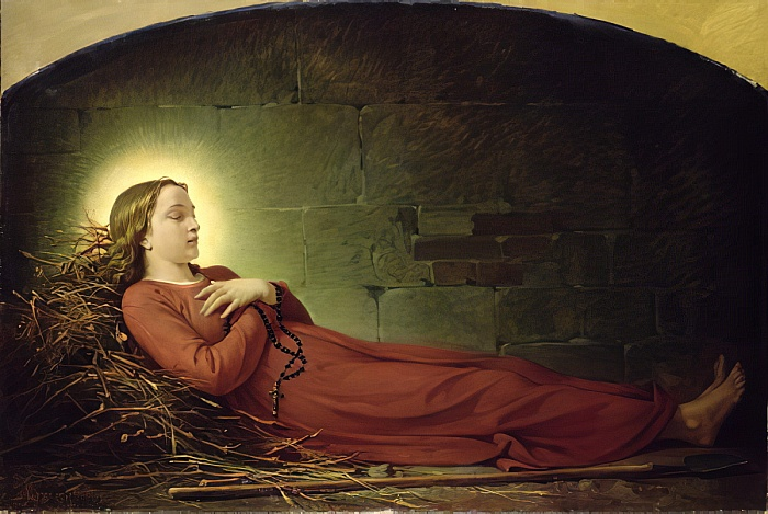 Muerte de Germana Cousin, por Alexandre Grellet.