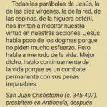 Comentario de San Juan Crisóstomo sobre los siervos primeros y últimos.