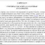 Lumen Gentium cap. 5
