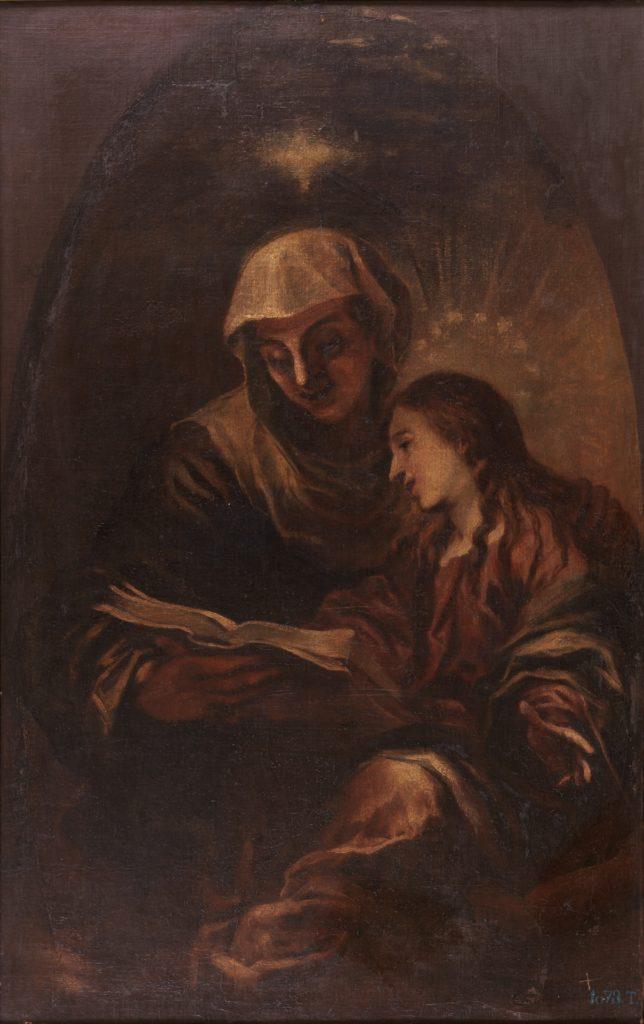 Santa Ana enseñando a leer a la Virgen. Francisco de HERRERA EL MOZO (siglo XVII). Museo Nacional del Prado