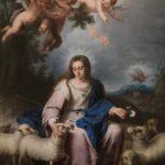 La Divina Pastora, por La Divina Pastora, por Alonso Miguel de Tobar, hacia 1732. Óleo sobre lienzo, 167 x 127 cm. Museo Nacional del Prado. No expuesto.